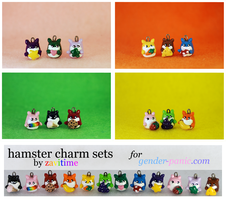 rainbow hamster charm full set by zavitime