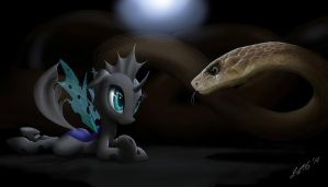 Changeling and the snake by ZiG-WORD