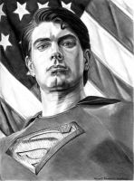 Patriotic Superman by khinson