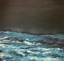 Sea at Night 6 x 6 by jdaobfan