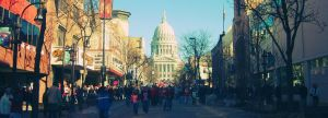Capitol of Wisconsin Walker Protesting - Madison by zackthemac