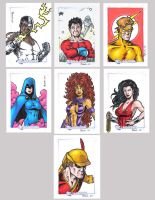 DC Legacy Sketch Cards P by tonyperna