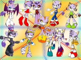 Blaze Cosplays The Sonic Gang by DarkSonic250