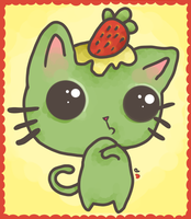 --Kawaii Minty Kitty-- by PickleddEgg