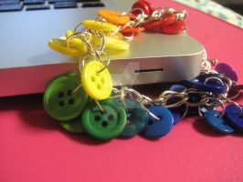 Rainbow Buttons Charm Bracelet by piratewh0re