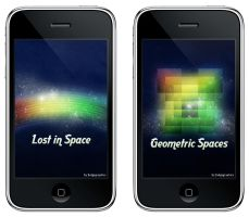 Cosmic Retro iPhone Wallpapers by fudgegraphics