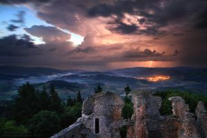 Epic Storm from the Ruins by FlorentCourty