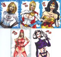 SKETCH CARDS March of Dimes by jasinmartin