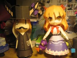 Papercraft double Suika by Rika-strife