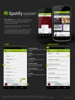 Spotify Android ICS Redesign by squizzi