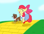 Skipping Down the Yellow Brick Road by Poppun