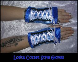 Lolita Corset Style Gloves by ZenAndCoffee
