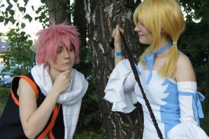 Nice 'whip 'Lucy - Natsu and Lucy cosplay by amikoRoyAi