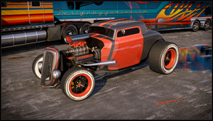 Hot Rod 1934 Custom - Kenworth W900 Custom 2014 by Yorzua