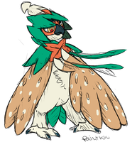 Decidueye by Paintkyu