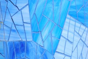 Mosaic Texture in Blue Glass 2 by chamberstock