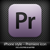 iPhone style - Pr CS4 icon by YaroManzarek