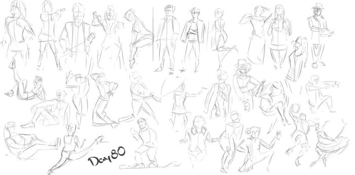 Figure exercises - Day 80 by Dante-mL