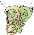 Bunny And Frog by Elmo-John