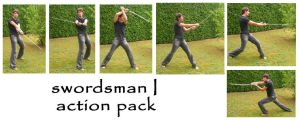 swordsman I action pack by syccas-stock