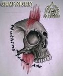 Skull Tattoo Design by Chad Nicely by EyeofJadeTattoos