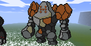Minecraft- Regirock by aprilgoddess