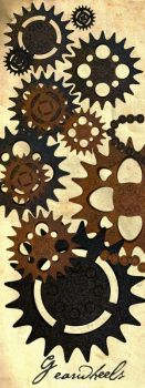 rusty gearwheels stock by mrhd