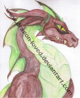 Watercolor Dragon by Dragon-loved