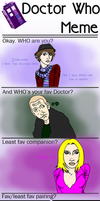 Doctor Who Meme filled by bowie-lover