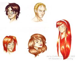 Harry Potter Characters by coda-leia