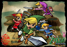 The Legend of Zelda: Four Swords Adventures GC by Legend-tony980