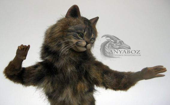 Tubby Tabby Cat Room Guardian by AnyaBoz