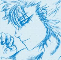Grimmjow sketch by Suphiria