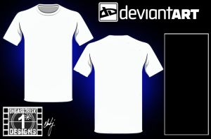 DA Blank Shirt Template II by rclarkjnr