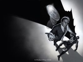 Two-Face vs. Batman Desktop by No-Sign-of-Sanity