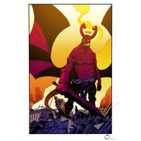 Apocalypse Hellboy In Color by petevaldez