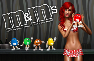 Lingerie M and Ms ad for Sims 3 Modeling Comp by yknsxblondie