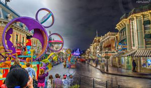 Day and Night at Main Street U.S.A by ExplicitStudios