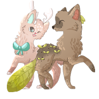leaves and deers PC by sheriiquills