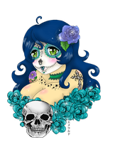 Day of the Dead Senorita by Emerarudo-chan