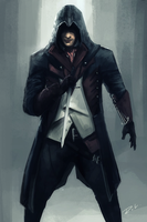 Arno Dorian | Assassin's Creed: Unity by geekyglassesartist