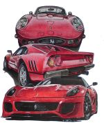 Ferrari GTO Trilogy by SIMPSONARTISTRY
