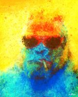 Suspiciously Colorful Gorilla by Matt-Mills