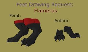 FLAMERUS FEET REF COLORED by crashazarel ON FA by DEVIOUS-DISCORD-RP