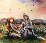 Zoisite and Kunsite by MorgainLaFey