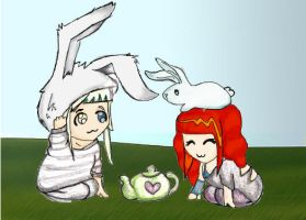 Tea with rabbits. by mandymini