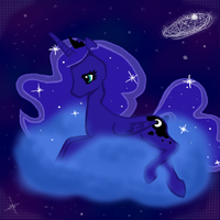 Princess Luna in the Sky by tenshinohana
