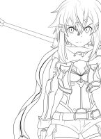 Sinon Lineart by Vmtp52