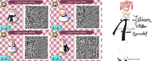 Lilum Sister Teto Animal Crossing QR! (White) by AwesomeSauceUnicorns