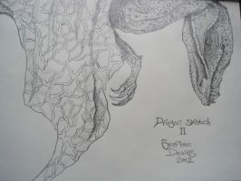 Dragon Sketch II by Stavies14